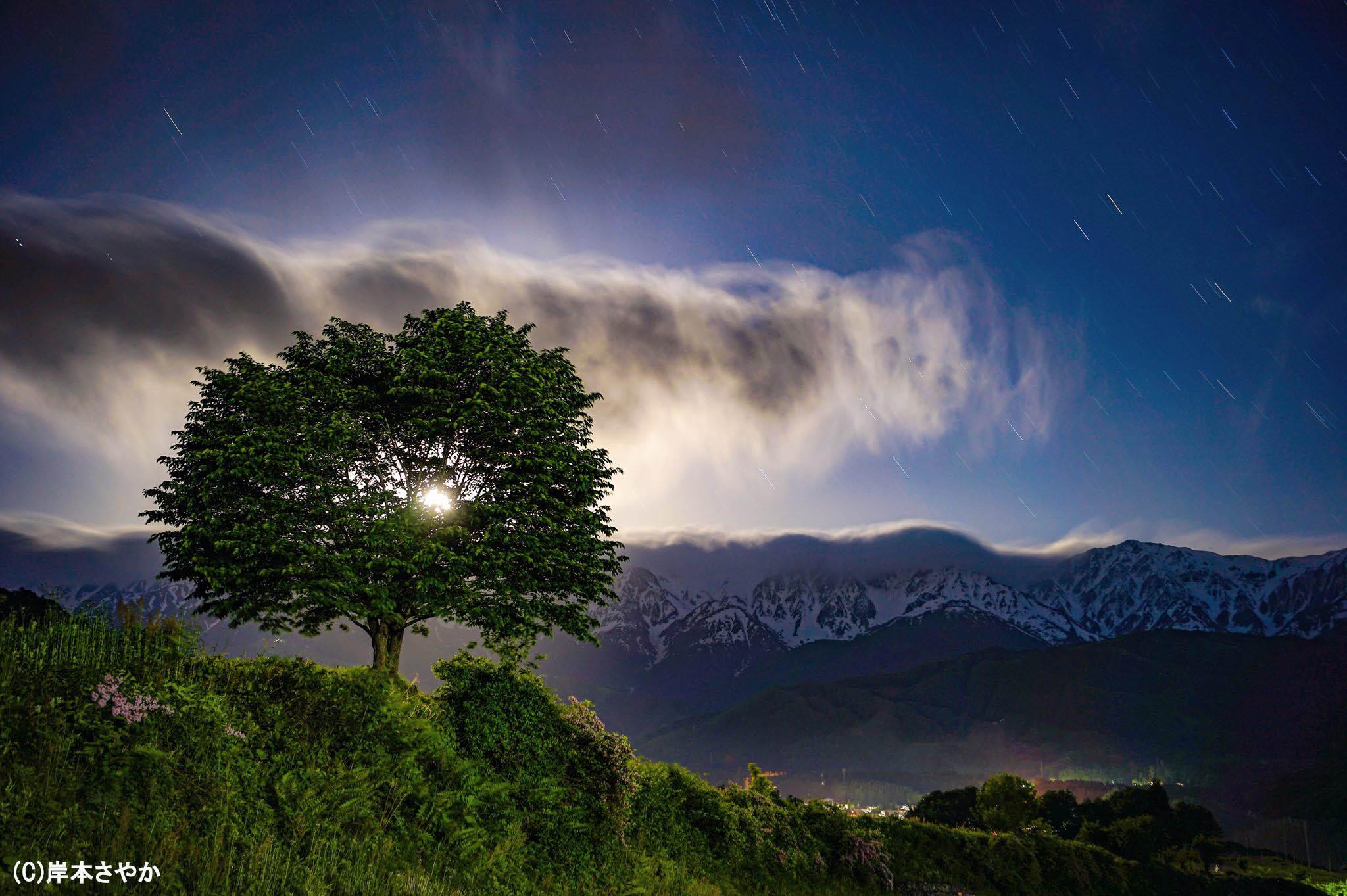 輝く雲の残像