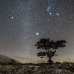 輝く冬空/冬の大三角と天の川