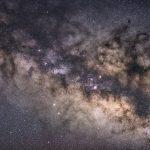海から昇る夏銀河 の星野写真