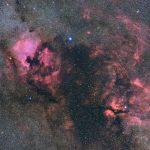 北アメリカ星雲からサドル付近