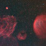 ぎょしゃ座の淡い星雲たち・ナローバンドで
